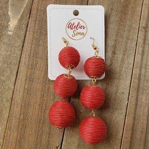 Dangly Red Earrings